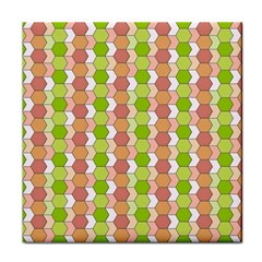 Allover Graphic Red Green Ceramic Tile by ImpressiveMoments