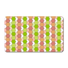 Allover Graphic Red Green Magnet (rectangular) by ImpressiveMoments