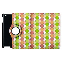 Allover Graphic Red Green Apple Ipad 3/4 Flip 360 Case by ImpressiveMoments