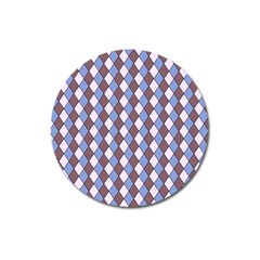 Allover Graphic Blue Brown Magnet 3  (round) by ImpressiveMoments
