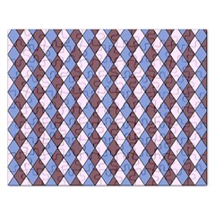 Allover Graphic Blue Brown Jigsaw Puzzle (Rectangle) by ImpressiveMoments