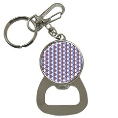 Allover Graphic Blue Brown Bottle Opener Key Chain by ImpressiveMoments