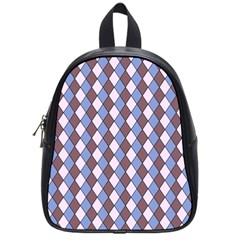 Allover Graphic Blue Brown School Bag (small) by ImpressiveMoments