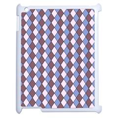 Allover Graphic Blue Brown Apple Ipad 2 Case (white) by ImpressiveMoments