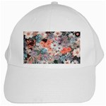 Spring Flowers White Baseball Cap