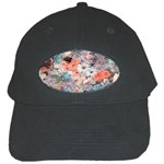Spring Flowers Black Baseball Cap