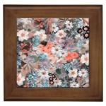 Spring Flowers Framed Ceramic Tile