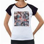 Spring Flowers Women s Cap Sleeve T-Shirt (White)
