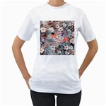 Spring Flowers Womens  T-shirt (White)