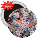 Spring Flowers 3  Button Magnet (10 pack)