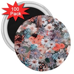 Spring Flowers 3  Button Magnet (100 Pack) by ImpressiveMoments
