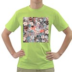 Spring Flowers Mens  T-shirt (Green)