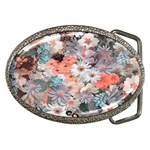 Spring Flowers Belt Buckle (Oval)