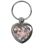 Spring Flowers Key Chain (Heart)