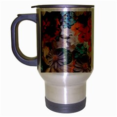 Spring Flowers Travel Mug (silver Gray) by ImpressiveMoments