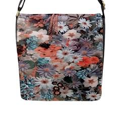 Spring Flowers Flap Closure Messenger Bag (large) by ImpressiveMoments