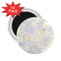 Spring Flowers Soft 2.25  Button Magnet (10 pack) by ImpressiveMoments