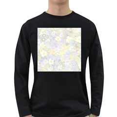 Spring Flowers Soft Mens' Long Sleeve T Shirt (dark Colored) by ImpressiveMoments