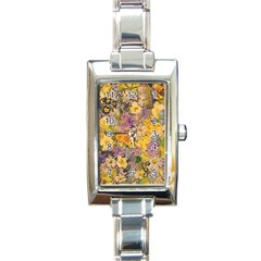 Spring Flowers Effect Rectangular Italian Charm Watch by ImpressiveMoments