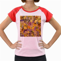 Spring Flowers Effect Women s Cap Sleeve T Shirt (colored) by ImpressiveMoments