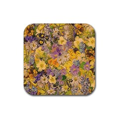 Spring Flowers Effect Drink Coaster (square) by ImpressiveMoments
