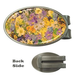 Spring Flowers Effect Money Clip (oval) by ImpressiveMoments