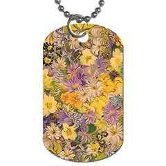 Spring Flowers Effect Dog Tag (one Sided) by ImpressiveMoments
