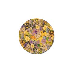 Spring Flowers Effect Golf Ball Marker 4 Pack by ImpressiveMoments