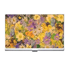 Spring Flowers Effect Business Card Holder by ImpressiveMoments