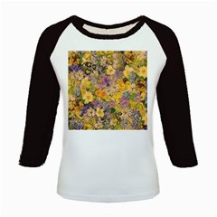 Spring Flowers Effect Kid s Long Cap Sleeve T Shirt by ImpressiveMoments