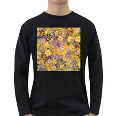 Spring Flowers Effect Mens' Long Sleeve T Shirt (dark Colored)