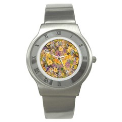 Spring Flowers Effect Stainless Steel Watch (slim) by ImpressiveMoments