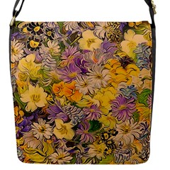 Spring Flowers Effect Flap Closure Messenger Bag (small) by ImpressiveMoments