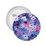Spring Flowers Blue 2.25  Button