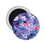 Spring Flowers Blue 2.25  Button Magnet