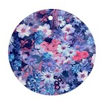 Spring Flowers Blue Round Ornament