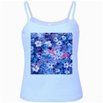 Spring Flowers Blue Baby Blue Spaghetti Tank