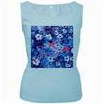 Spring Flowers Blue Womens  Tank Top (Baby Blue)