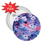 Spring Flowers Blue 2.25  Button (10 pack)
