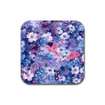 Spring Flowers Blue Drink Coaster (Square)