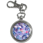 Spring Flowers Blue Key Chain & Watch