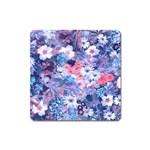 Spring Flowers Blue Magnet (Square)