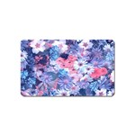 Spring Flowers Blue Magnet (Name Card)