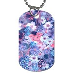 Spring Flowers Blue Dog Tag (One Sided)