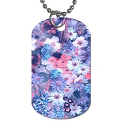 Spring Flowers Blue Dog Tag (two Sided)