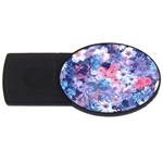 Spring Flowers Blue 2GB USB Flash Drive (Oval)