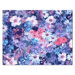 Spring Flowers Blue Jigsaw Puzzle (Rectangle)