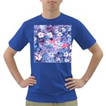 Spring Flowers Blue Mens' T-shirt (Colored)