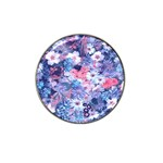 Spring Flowers Blue Golf Ball Marker 4 Pack (for Hat Clip)