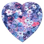 Spring Flowers Blue Jigsaw Puzzle (Heart)